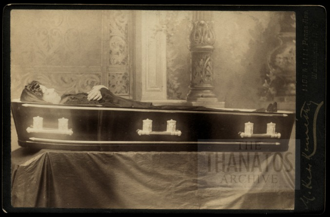 Woman in coffin. But was she really dead?