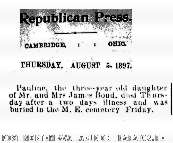 "Pauline's Obituary (""Brain Fever"") [ Archive Image 3449"